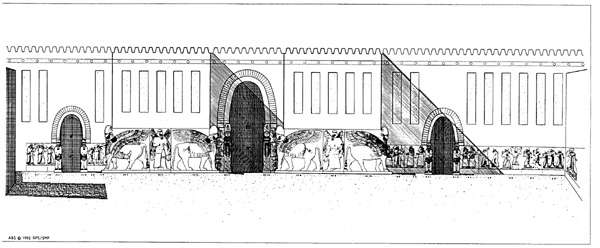 Architectural Facades Drawings Courtyard Facade Drawing