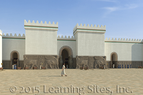 Northwest Palace, Nimrud, great courtyard
